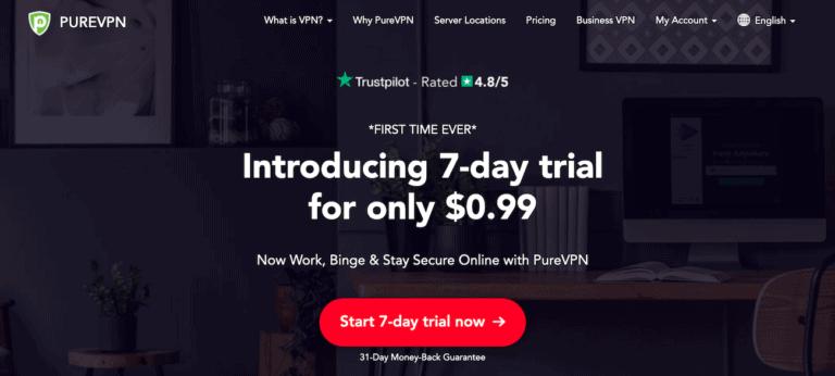 PureVPN website