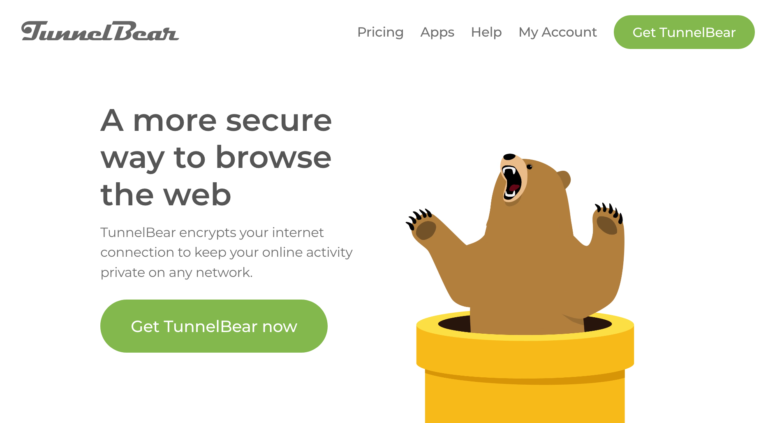 TunnelBear VPN website