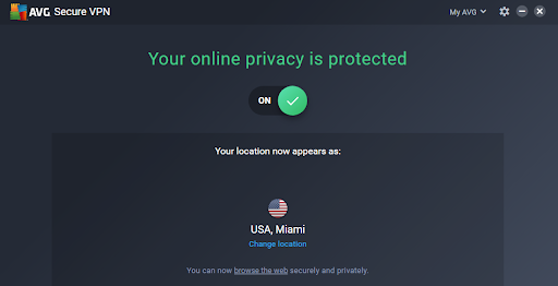 Connected to AVG US server
