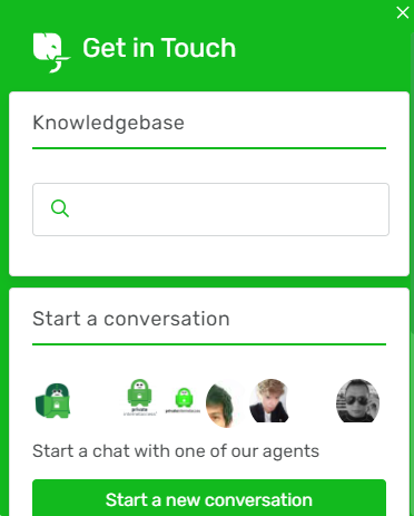 Private Internet Access live chat