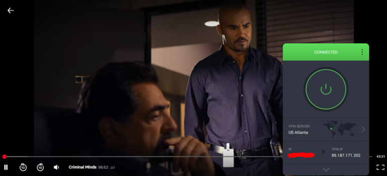 Streaming Criminal Minds with Private Internet Access