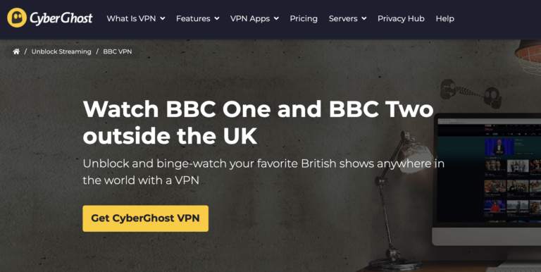 Unblock BBC with CyberGhost VPN