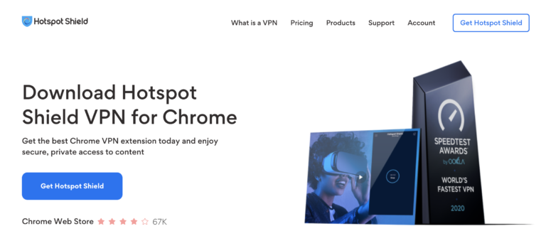 Download Hotspot Shield extension for Chrome
