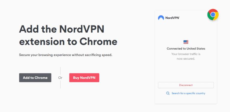 NordVPN Extension for Chrome